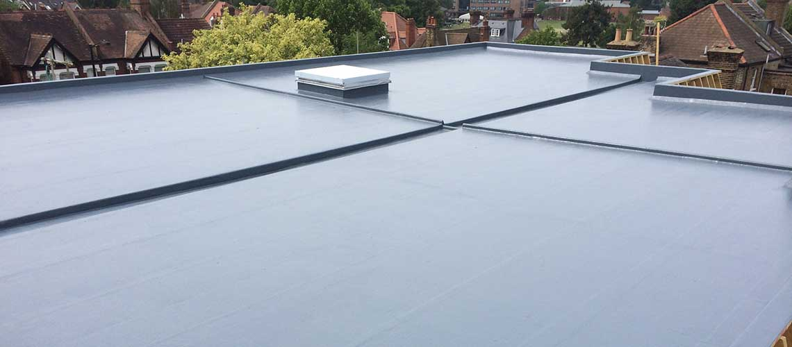 GRP fibre glass roofing guaranteed for 30 years
