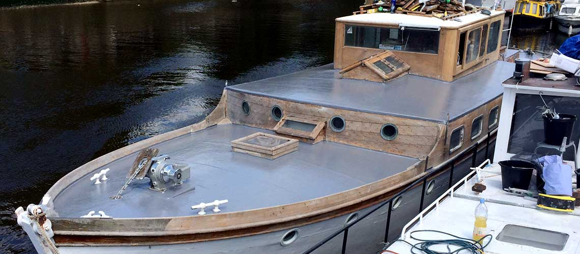 Fibreglass roofing for boats in Surrey & London